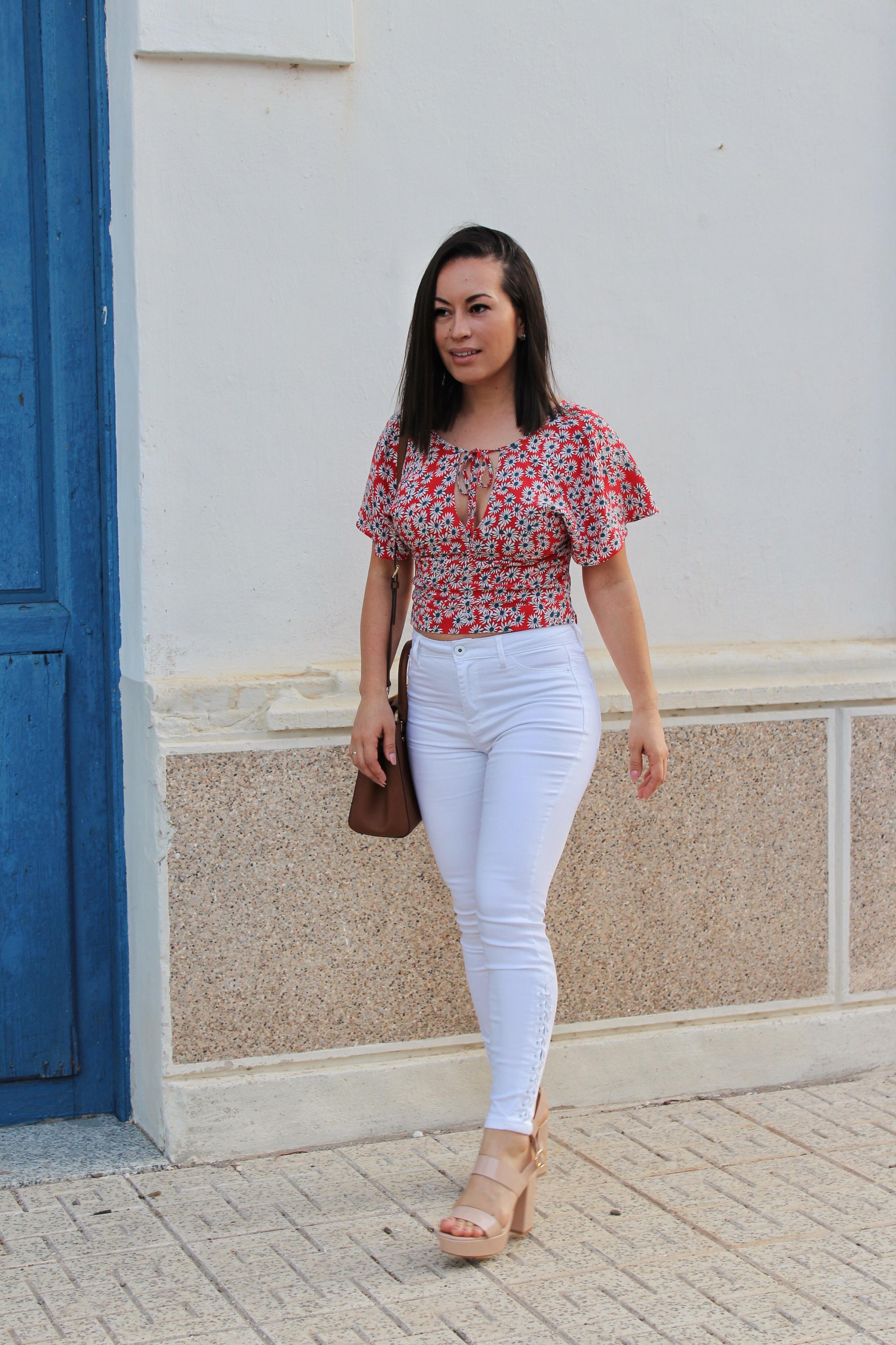 Y Love Pantalón Estampado – Chic Top Blanco Sweet yf7vIbgY6m