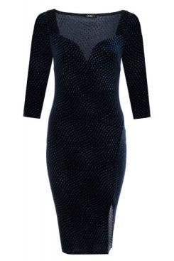 vestido-de-terciopelo-brillante-con-mangas-3-4-00100013271