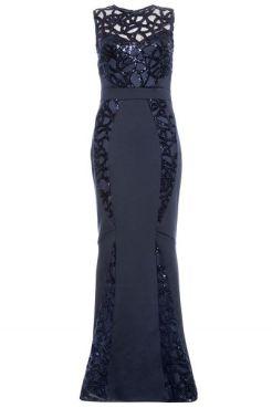 vestido-largo-en-azul-marino-aplicación-de-encaje-lentejuelas-y-bajo-cola-de-pez-00100011867